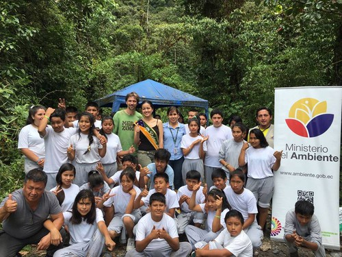 Reforestation project with school kids Mera